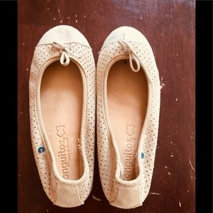 Conguitos leather flats